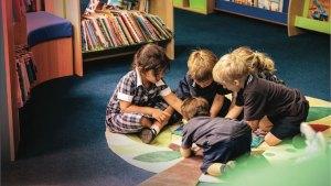 Dulwich Children in Library