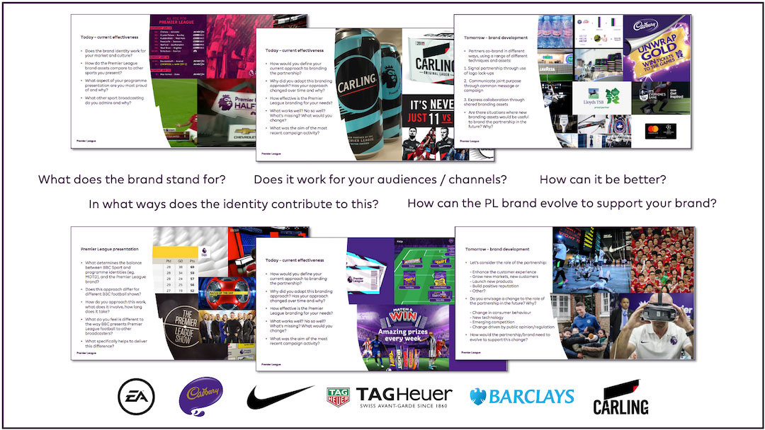 Premier League Partners Brand Workshop