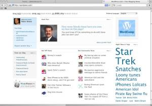 Wordpress home page