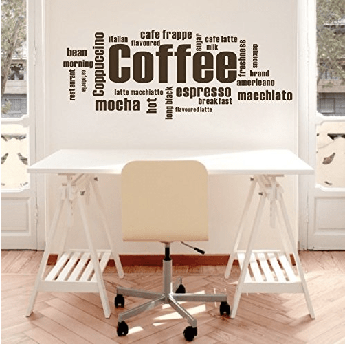 Coffee vinyl wall sticker