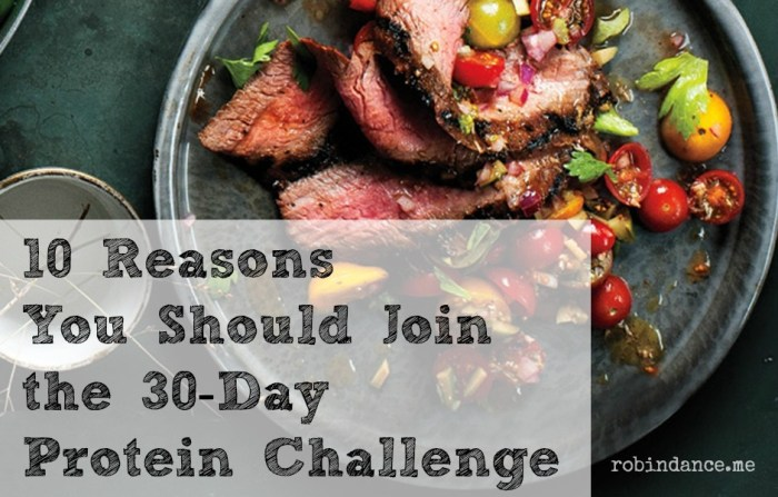 10 Reasons To Join the 30-Day #ProteinChallenge