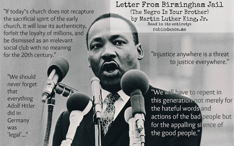 Image result for martin luther king jr quotes birmingham jail letter