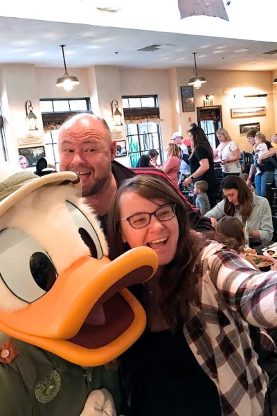 We recently took a trip to Walt Disney World ran into an old friend, Donald Duck! Wanting to capture this special reunion so we could relive it over and over again, I filmed our selfie fun with a 360 camera for a virtual reality 360 view video. | Robin Deutschmann