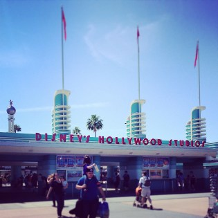 Hollywood Studio's entrance is so retro/deco and captured nicely by Allie's Instagram!