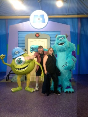 Rod and I couldn't pass by the chance for a photo op with Mike and Sulley!