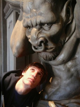 Like mother, like son … Jacob had a fascination with the gargoyles, too.