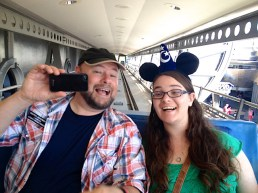 While Rod and Allie had fun on the PeopleMover, they were probably more entertained by our overt enthusiasm for this ride.