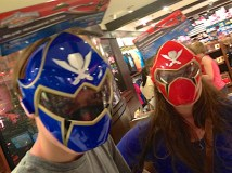 We had a lot of fun in the shop … as you can tell. Jacob and Allie morphed into Power Rangers.