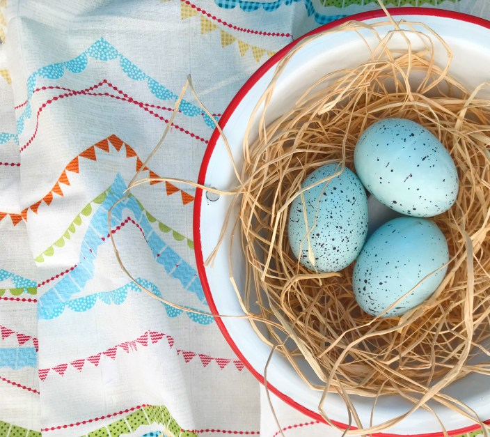 Eggs and bunting