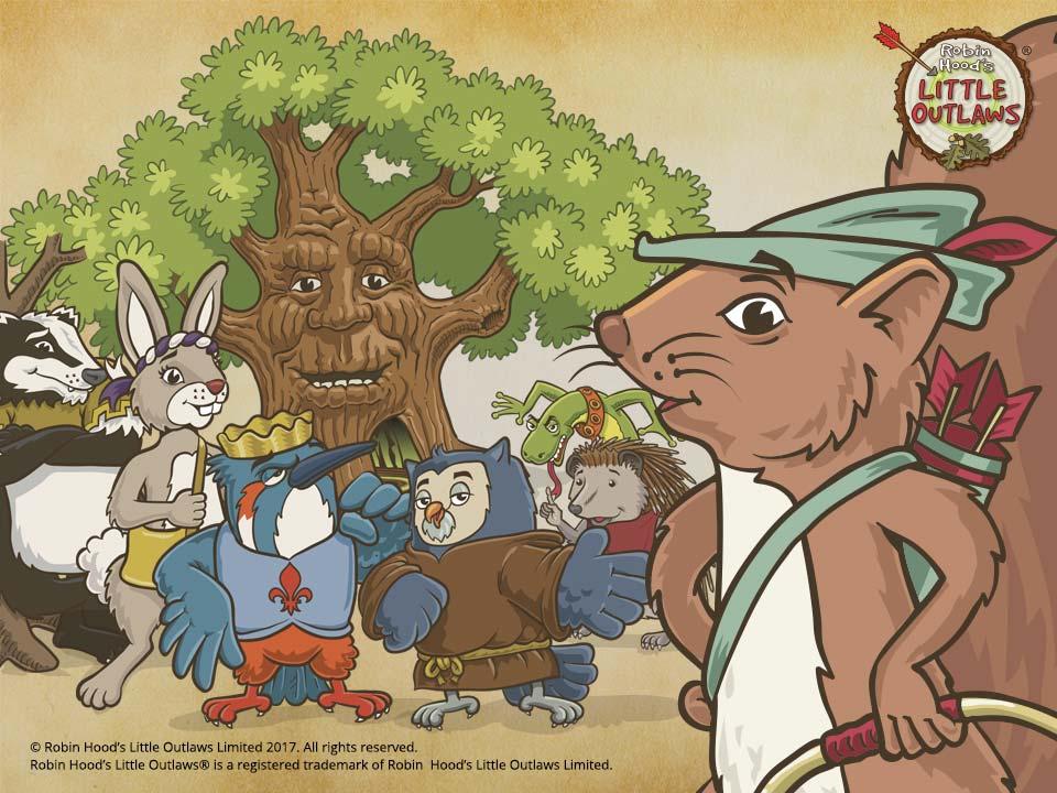 Robin Hood's Little Outlaws group illustration