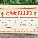 Sherwood Forest author event Geb 23rd - CANCELLED
