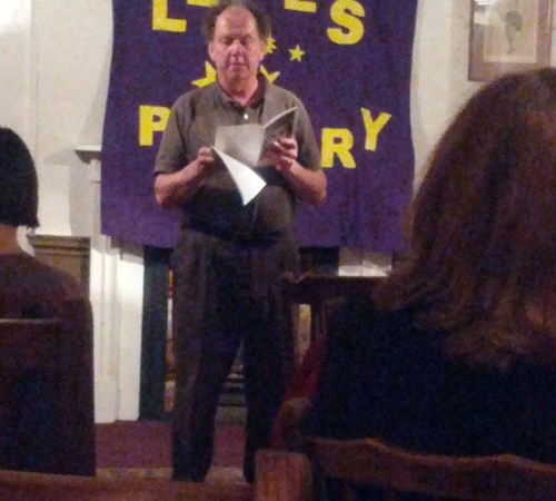 Stephen Plaice reading at Lewes Poetry