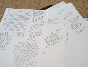 Notes from a poetry workshop