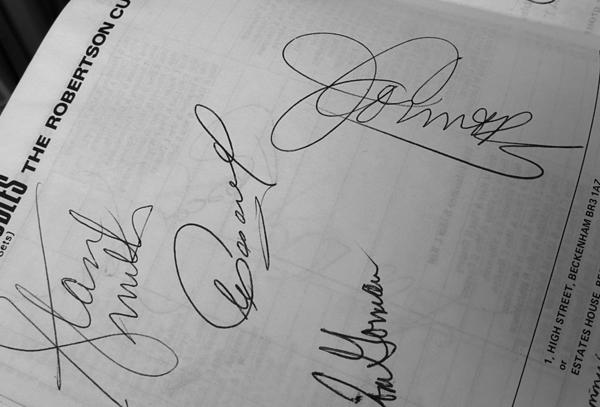 autographs - beckenham tennis 1976