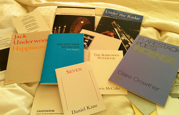 Books purchased at the Poetry Book Fair 2015