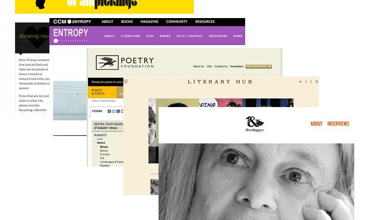 Awesome literary websites