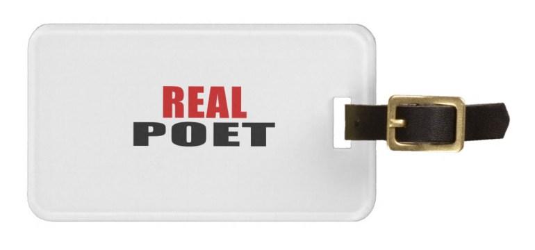 Real Poet luggage tag