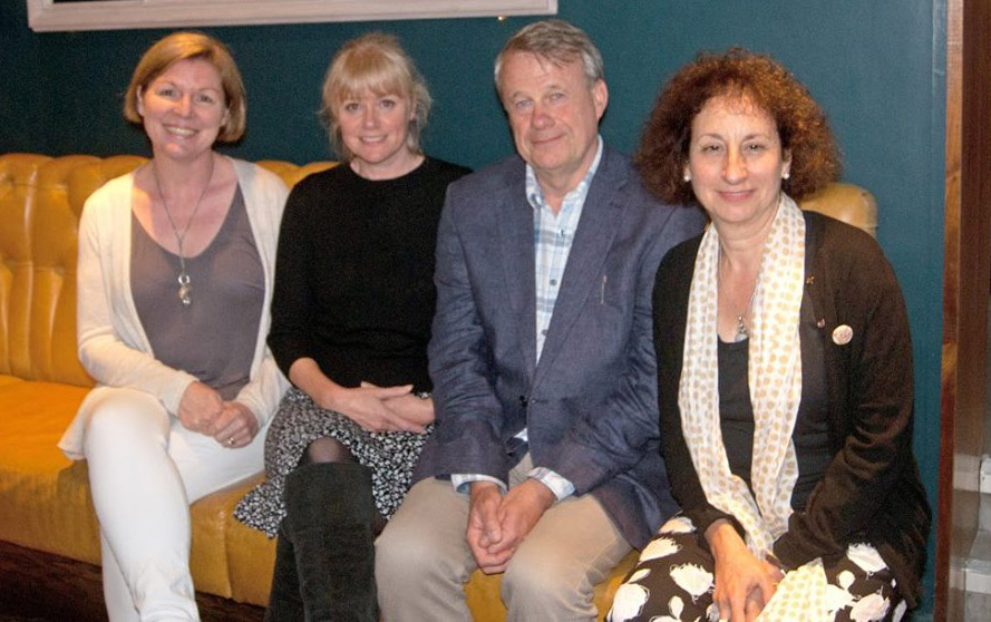 Skin Dairy launch readers (l to r) - Robin Houghton, Abegail Morley, Jeremy Page, Mara Bergman