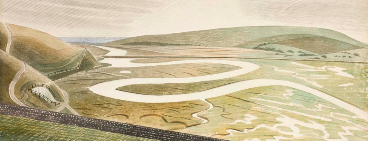 Cuckmere Haven by Eric Ravilious, Towner Gallery Eastbourne