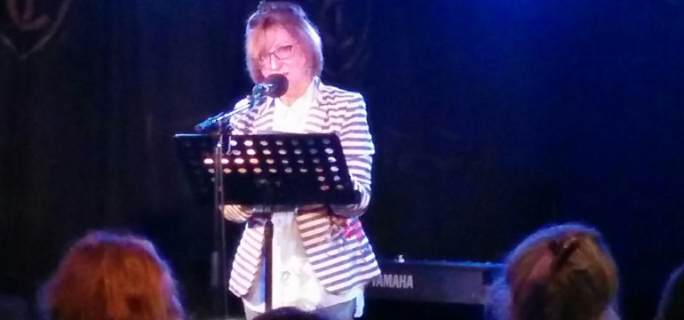 Anne-Marie Fyfe at the Troubadour Coffee-House poetry
