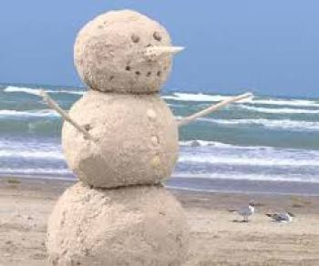 Florida Snowman built out of sand