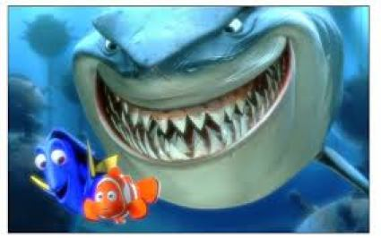 cartoon of shark in Finding Nemo