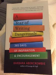 book cover: A year of writing dangerously