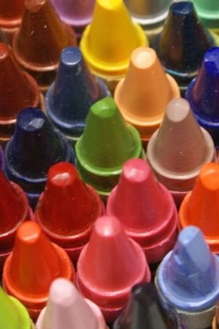 crayons up close