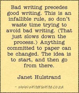 Quotes: BadWriting_JanetHulstrand
