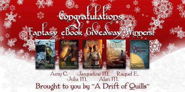 2016 Drift of Quills Fantasy eBook Giveaway Winners