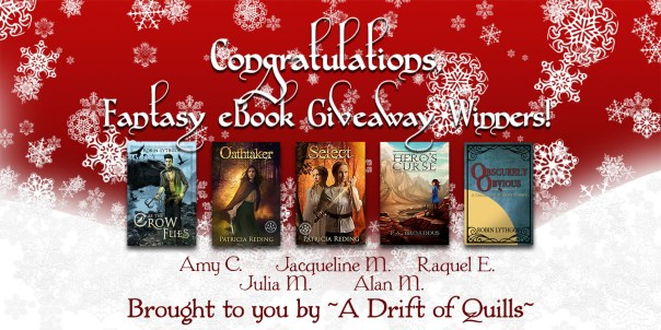 2016 Drift of Quills Fantasy eBook Giveaway Winners