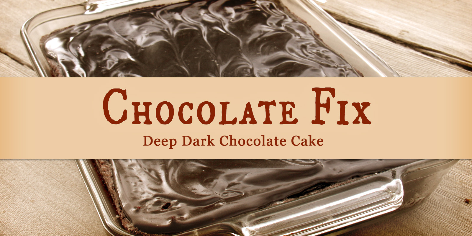 Chocolate Fix: Deep Dark Chocolate Cake — A long time ago, in a galaxy far, far away… Someone in my family discovered the recipe for an easy, scrumptious deep dark chocolate cake. I don't know who it was or where they found it, but the flavor and texture were to die for. We made it a lot. It swiftly became the go-to chocolate cake recipe.
