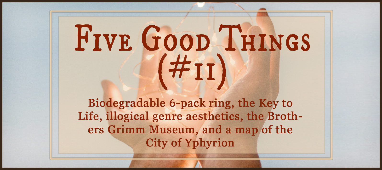 Five Good Things #11 (Amazing People Doing Amazing Things) — Terrible, trying things happen, sure, but among all the tears and terror, there are beautiful things going on. Check out these amazing people using their noggins for good things! http://robinlythgoe.com