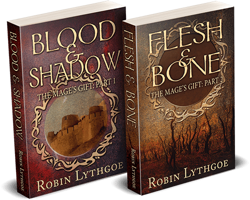 The Mage's Gift series (Blood and Shadow, plus Flesh and Bone), by Robin Lythgoe