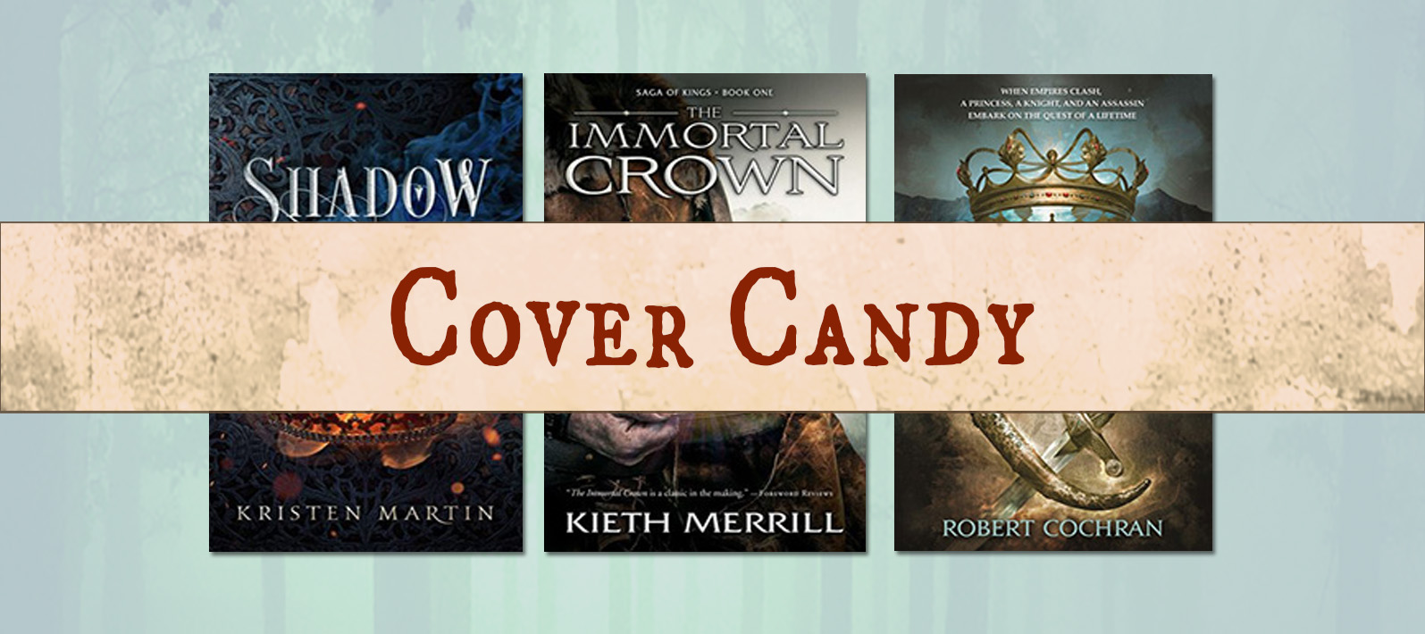 In Cover Candy #12 (The One With the Crowns) we're looking at books with crowns on the covers. Ooo, shiny! www.robinlythgoe.com