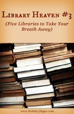 """Library Heaven isn't always the library in """"Beauty and the Beast."""" Sometimes there are book spaces that simply take your breath away, or spaces that invite you to curl up and get comfy… www.robinlythgoe.com"""