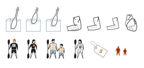 Icon Set - Kayak