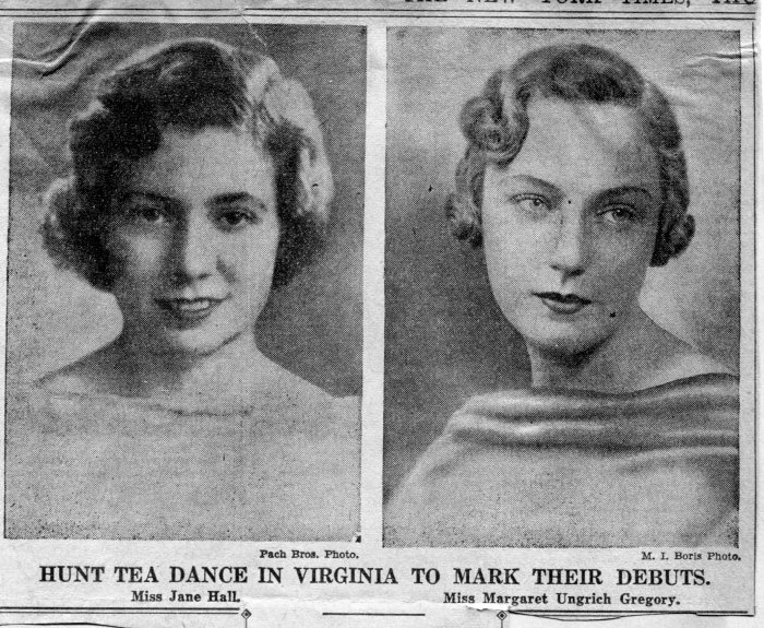 Jane Hall and Margaret Gregory, New York Times, November 16, 1933.