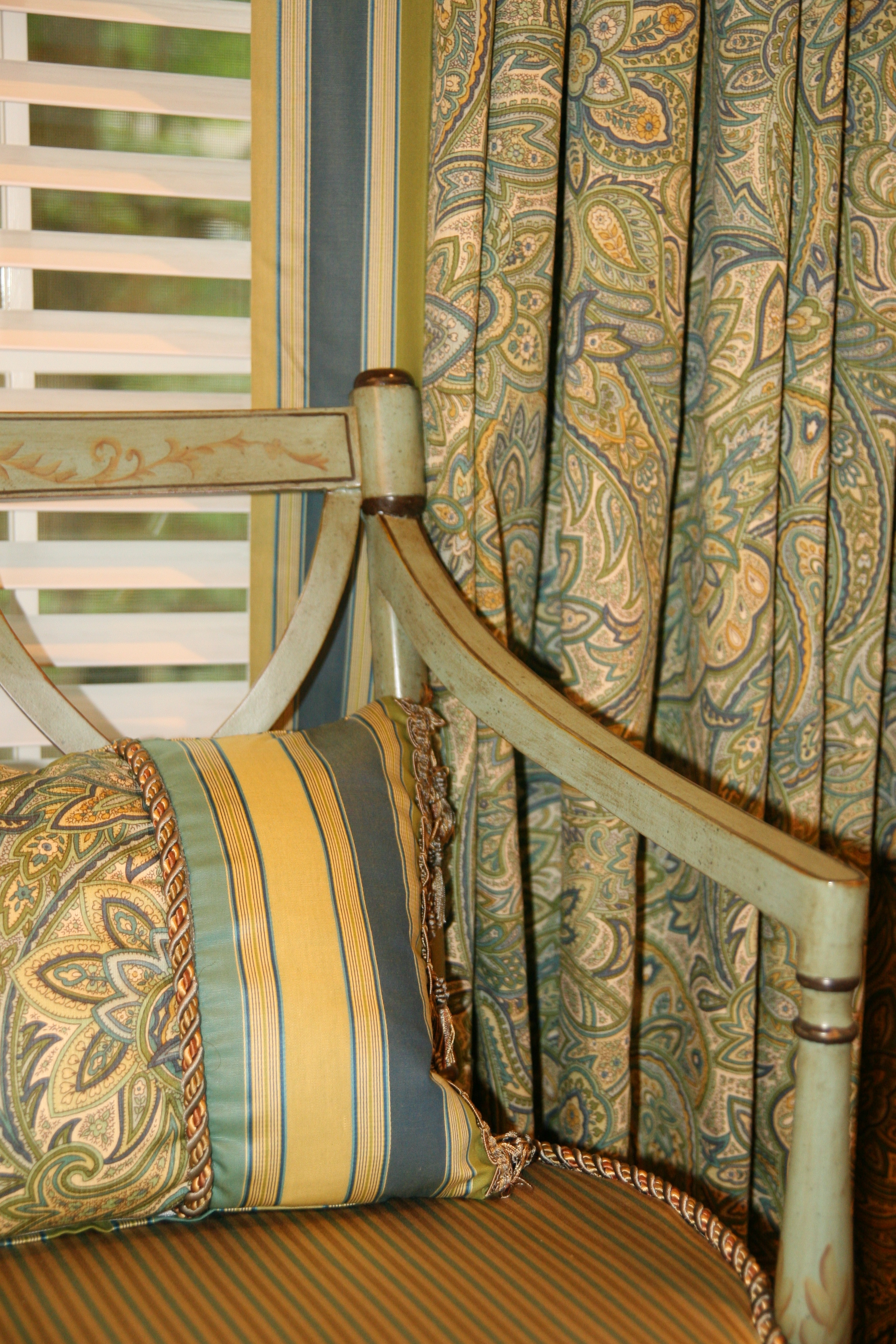 Beautiful fabric combinations create a custom look.