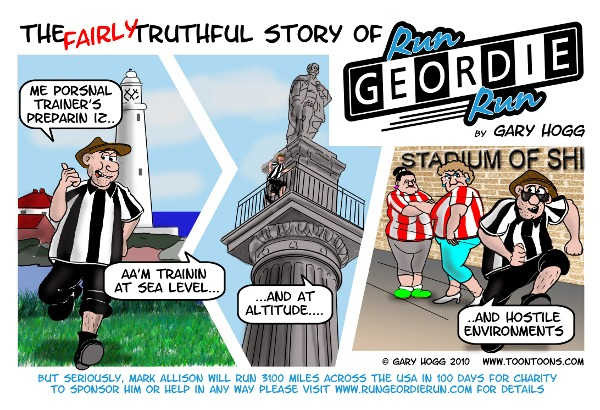Run Geordie Run cartoon image