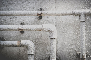 rusty metal water pipes