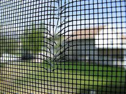 Screen door repair with aluminum and fiberglass screen