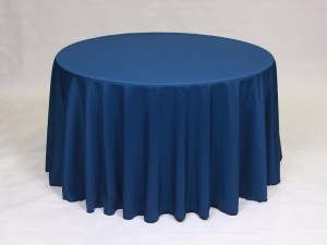 Navy tablecloth, linen and napkin rentals in Hudson and Framingham, MA