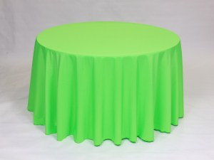Neon Green tablecloth, linen and napkin rentals in Hudson and Framingham, MA