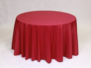 Ruby Red tablecloth, linen and napkin rentals in Hudson and Framingham, MA