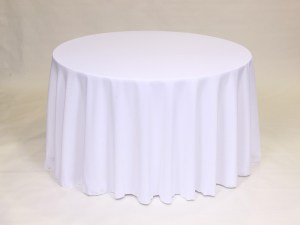White tablecloth, linen and napkin rentals in Hudson and Framingham, MA
