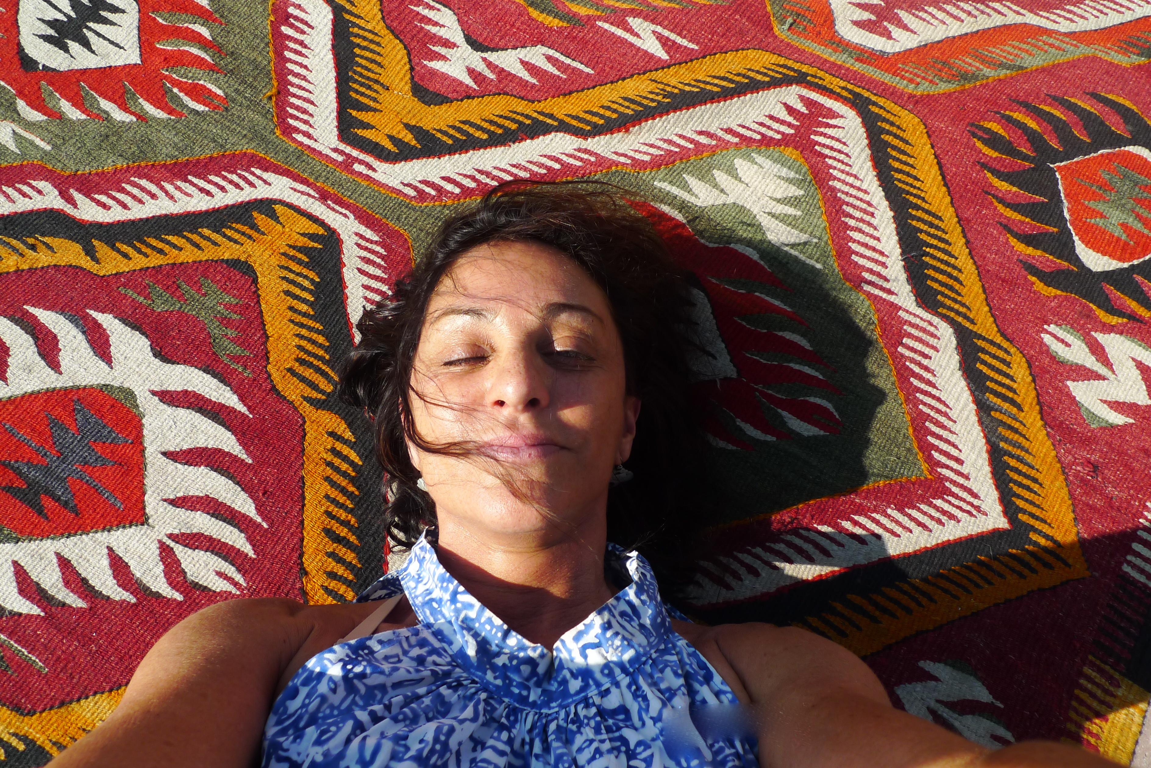 Me on the Turkish rug drug. :)