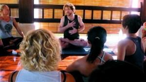 Patrick Creelman guiding Anusara Yoga class