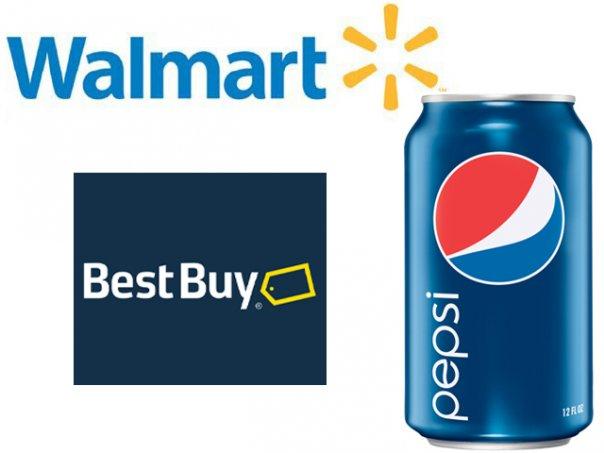 new logos - Walmart, Pepsi, Best Buy