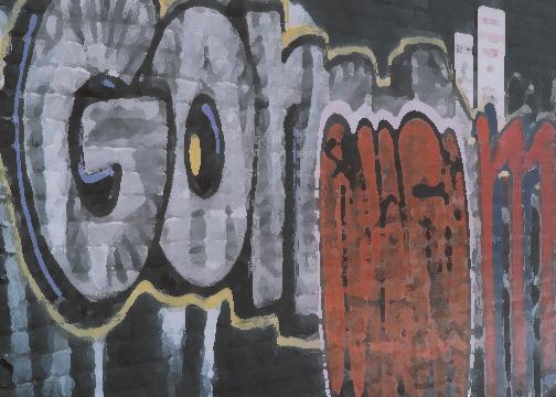 Toronto alleyway with graffiti